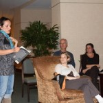 Book reading as therapy: Monica Lemoine of Knocked Up, Knocked Down