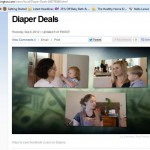 Dishing on diapers on TV