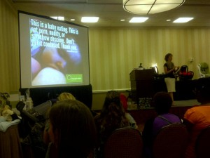Jessica of The Leaky Boob shares her beautiful breastfeeding project slides with MommyCon Philly