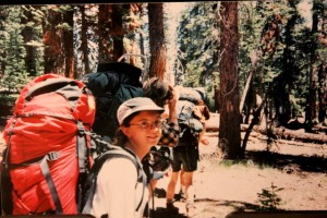 Jessica Sequoia National Park 1995 backpack