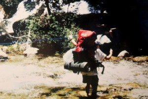 Jessica Sequoia National Park 1995 crossing river