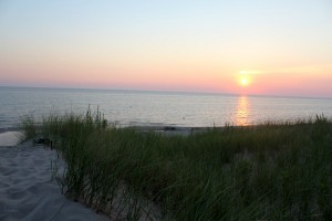 Lake Michigan dune sunset