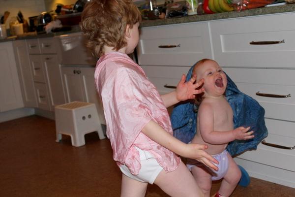 dancing laughing child
