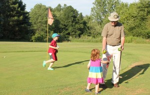 golf and garden with grandpa