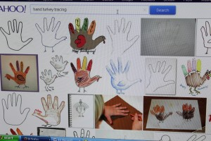 hand turkey internet search