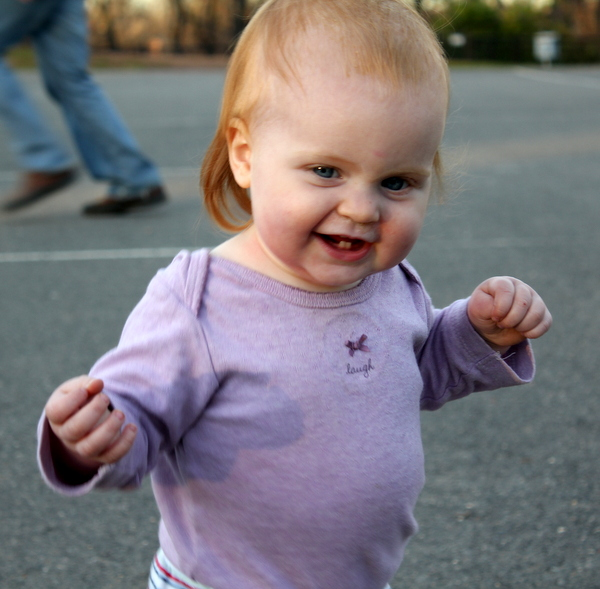 toddler with Laugh onesie