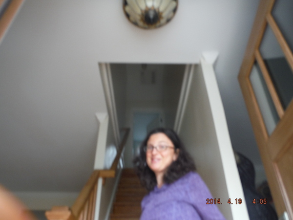 fuzzy photo of mom taken by child