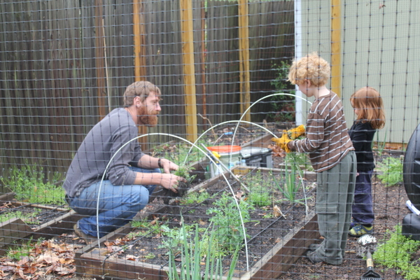 gardening with children and Love and Carrots