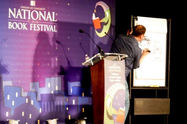 National Book Festival Dav Pilkey drawing