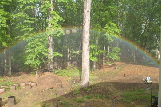 rainbow in back yard