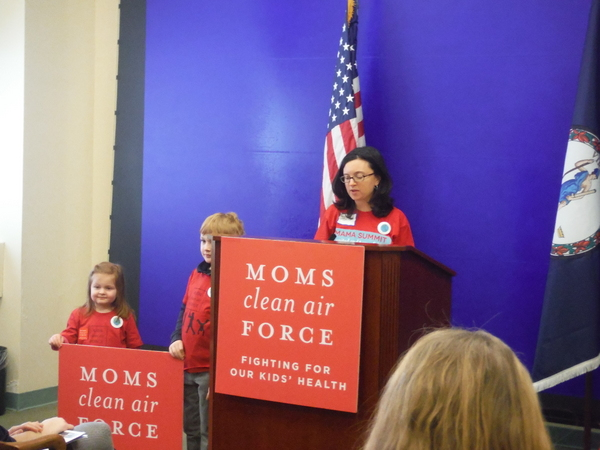 Moms Clean Air Force MamaSummitVA Jessica Claire Haney press conference speaking3