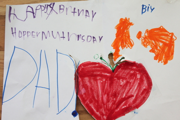 Happy Mothers Day card from four-year-old