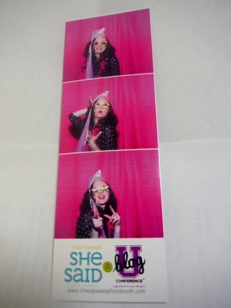 BlogU Chesapeake Photo Booth sponsored by That's What She Said
