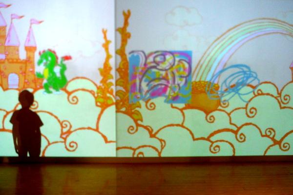 Crayola Experience Art Alive on screen