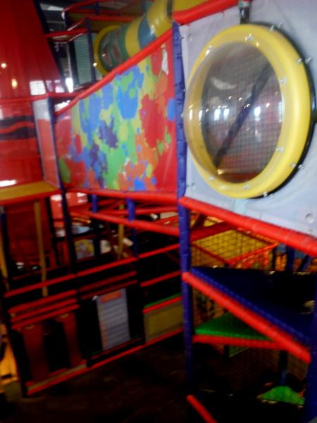 Crayola Experience climbing area