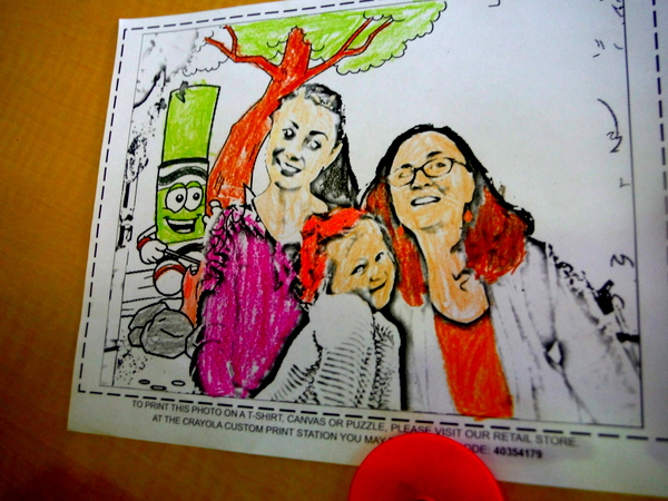 Crayola Experience printout coloring sheet colored in