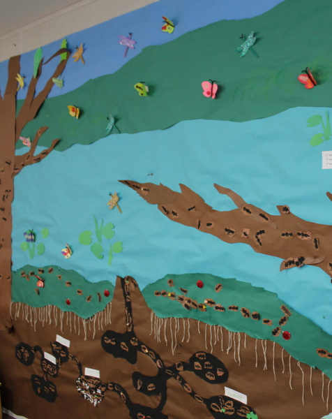 preK classroom - ant colony mural