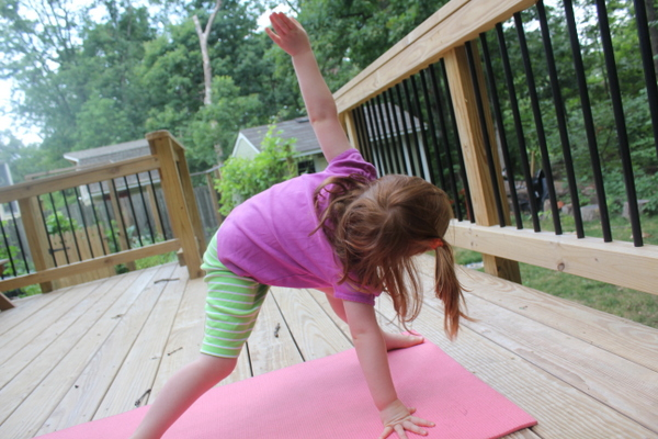 Annika yoga on deck