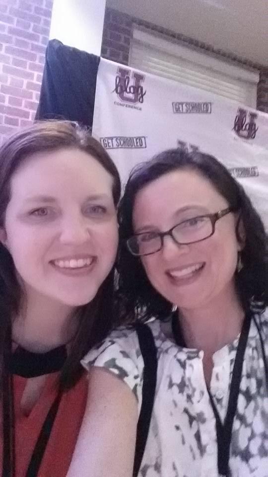 BlogU founder Stephanie Giese and Jessica Haney