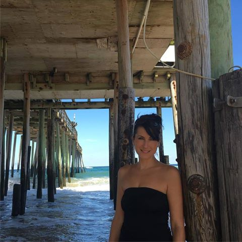 Jennifer Robins at beach