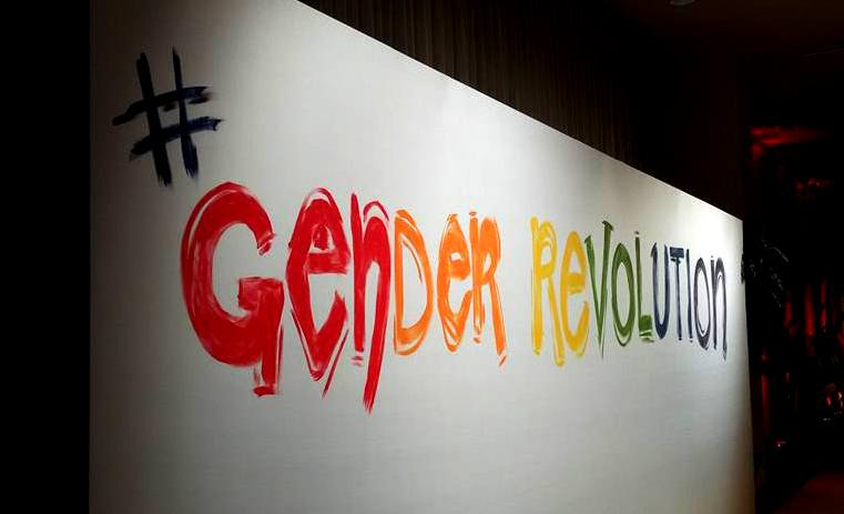 Gender Revolution rainbow hashtag