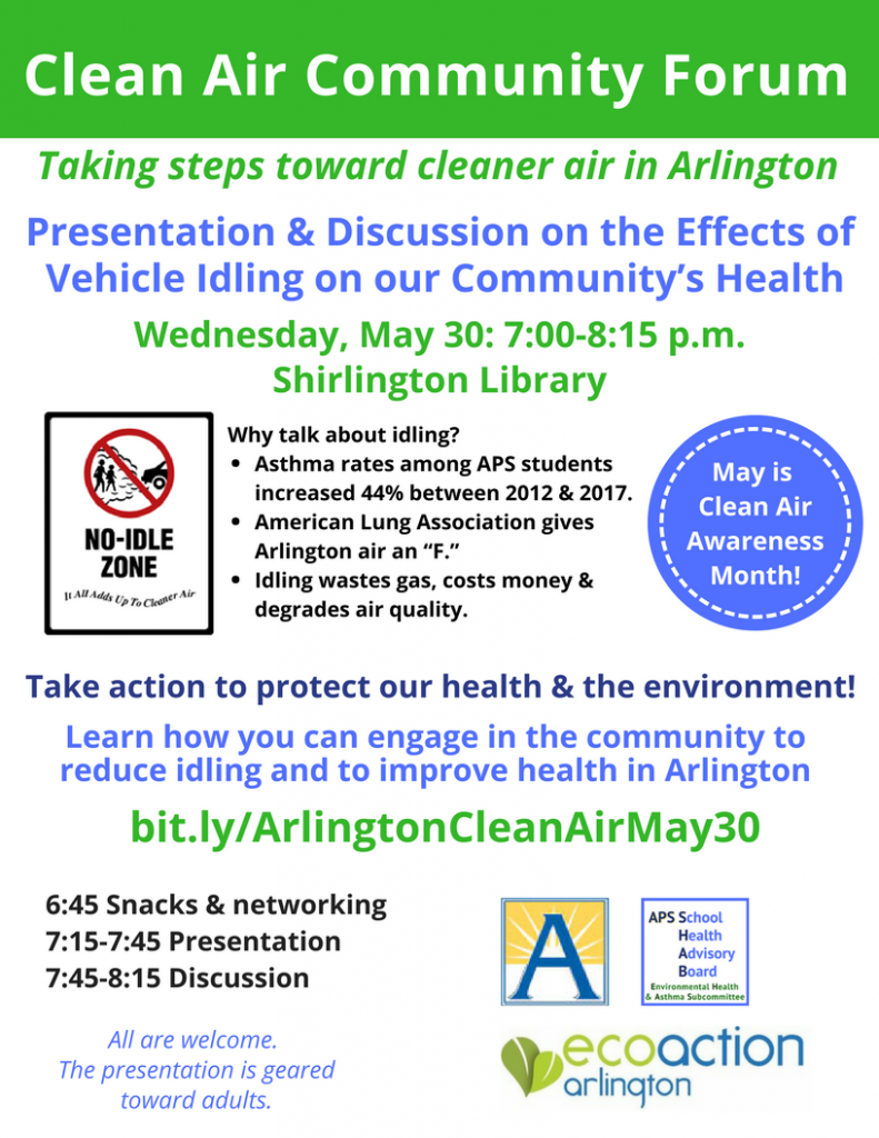 Clean Air Community Forum flyer B