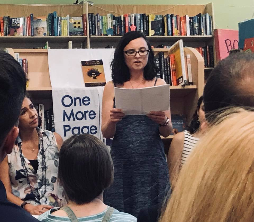 Jessica Claire Haney at One More Page Grace in Darkness Reading close up